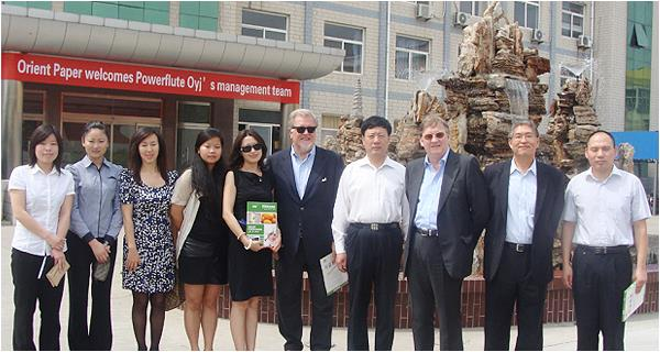 Dongfang Paper a well-known British paper company, visited the company